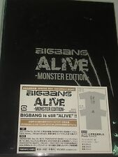 BIGBANG ALIVE Monster Edition CD + DVD + T-shirt Japan Limited BOX (2012) #95