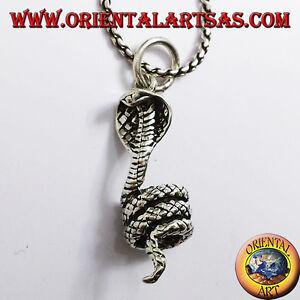 Anhänger Cobra Gerollt aus Silber 925‰