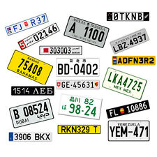 1:10 Scale RC CAR International Mini Plastic Number License Plates Pair Touring