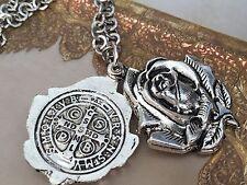 St Benedict Medal Pendant/locket With Chain/ Medalla De San Benito