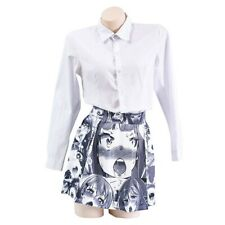 Anime Ahegao Printed Pleated Skirt Gothic Lolita Harajuku Summer Mini Skirts