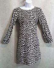 Jude Connally Chloe Dress sz Small long sleeve Cheetah animal print