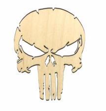 Punisher Skull Laser Cut Unfinished Wood Shape PS11067 Crafts Lindahl Woodcrafts