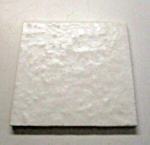 """American Olean USA S4449 Beige 4-1/4"""" Wrinkled Ceramic Bullnose 1 Wall Tile Vtg"""