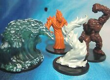 Dungeons & Dragons Miniatures Lot  Large Water Elemental Earth Elemental !! s114