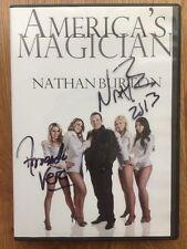 Nathan Burton America's Magician Dvd Las Vegas Armando Vera Signed ! Rare