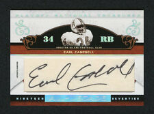Earl Campbell 2007 National Treasures Cuts 19/50 Cut Auto Autograph Legendary SP