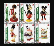 [sierra leone] Disney Cartoon stamps Mickey Donald Duck Doll ~ total 6 pic/set