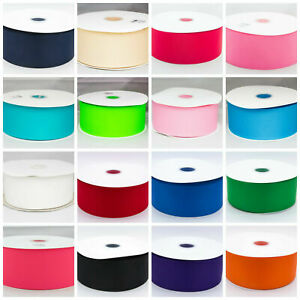 """Solid Double Sided Grosgrain Ribbon 75mm 3"""" Width 35 colors re stocked"""