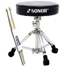 Sonor DT XS 2000 Drum Hocker extra niedrig + KEEPDRUM Drumsticks