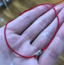 Silver Kabbalah Red cord Lucky  Bracelet Protection Evil Eye