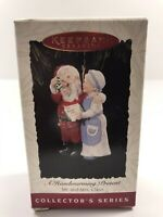 1994 Vintage Hallmark Ornament Mr & Mrs Claus Series #9 Christmas Holiday Home