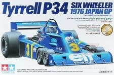 Tamiya 20058 1/20 F1 Car Model Kit Elf Team Tyrrell P34 76 Six-Wheeler Scheckter
