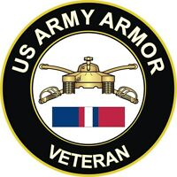 "Army Armor Kosovo Veteran 5.5"" Decal / Sticker"