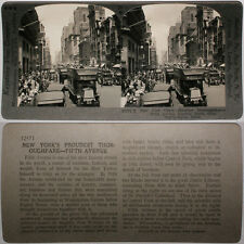 Keystone Stereoview 5th AVE. & 38th ST., NEW YORK, NY From 600/1200 Card Set # B