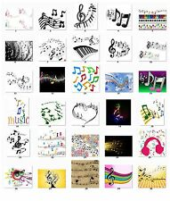 Personalized Return Address labels Music Music Notes Buy 3 get 1 free {m4}