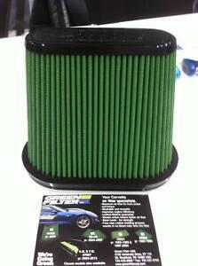 Green High Performance Air Filter for 2014-19 Corvette C7 Stingray # 7225