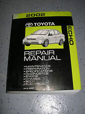 2002 Toyota ECHO service manual shop repair workshop