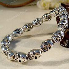 Tibet Style Tibetan Silver Fashion Lucky Skull Bracelet Bangle