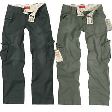 SURPLUS LADIES VINTAGE TROUSER schwarz oliv, Gr. 34-42 Damen Cargo Hose Trousers