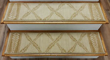 "Rug Depot Set of 13 Transitional Wool Non Slip Carpet Stair Treads 36""x9"" Beige"