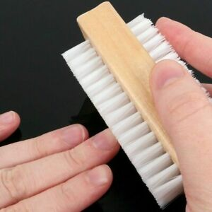 2 Wooden Nail Brush Scrubbing Finger Toe Washing up Double Side Bristles Natural