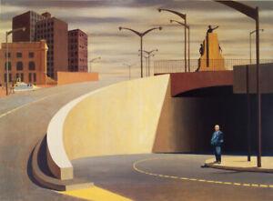 Jeffrey SMART Cahill Expressway - Out of Print Poster, Modern Sydney Landscape
