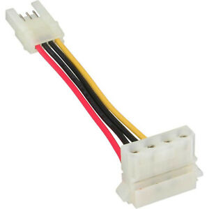 Power Adapter internal floppy female to Molex 4 Pin male 6cm