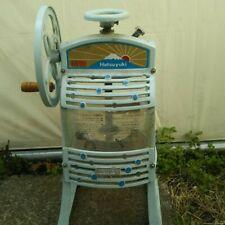 Hatsuyuki Manual Hawaiian Shaved Ice Machine Block Ice Shaver Pro HA-110S za143