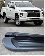 Black Side Steps Running Boards for Mitsubishi Triton MR Dual Cab 2019 2020
