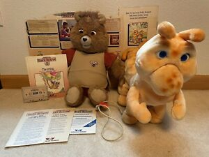 Vintage 1985 teddy Ruxpin with Grubby, connection cord, book and tape