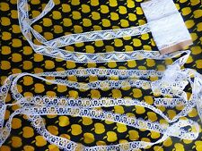 xixè=anciennes fines dentelles 4m,50 en toutpour  vétements anciens ou bébé