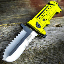 "8"" Chain Saw Spring Assisted Open Folding Pocket Knife Tactical Fantasy Blade"