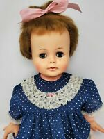 "IDEAL Kissy Doll. 22"" Marked Ideal Toy Corp. PAT. PEND. Works Still Kisses! 1961"