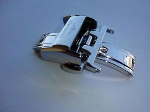 16mm S/S silver deployment buckle for longines watch strap