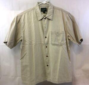 Woolrich Mens Button Down Short Sleeve Shirt Size XL