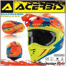 CASQUE ACERBIS PROFILE 3.0 SNAPDRAGON MX MOTOCROSS ENDURO ROUGE/JAUNE TAILLE XL