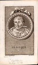 Portrait XVIIIe Sénèque Philosophie Stoïcisme Seneca the Younger Stoicism