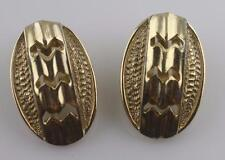 Vintage Sarah Cov Coventry SAC 70's gold tone zig zag cuts oval clip on earrings