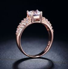 Rose Gold-Plated. AAA Cubic Zirconia. Cast S 925 Stainless Steel Ring