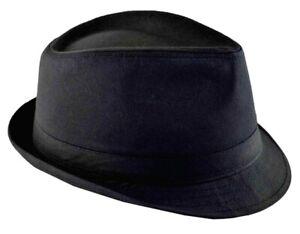 Nayt Men's Cotton Fedora 64cm 3xl Black