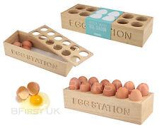 Wodden 12 Eggs Holder Station Wood Box Tray Rack Shelf Storage Organiser Cabinet