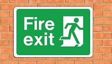 Fire EXIT Large A4 alluminio metallo segno