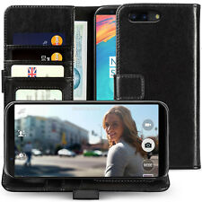 Genuine Leather Wallet Case for The OnePlus 5t License Slot Flip Phone Cover