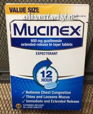 Mucinex Expectorant Extended Release Bi-Layer 68 Tablets 600mg Exp. 2020