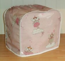 White Edged Pink Fairies OILCLOTH Cover for KENWOOD PROSPERO Food Mixers