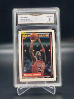 1992 Topps #205 Michael Jordan GMA Graded 8 NM-Mint