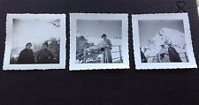 3 VINTAGE 50'S / 60'S?, PEOPLE IN THE SNOW, BLACK AND WHITE PHOTOS