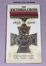 2006 ROYAL MINT SPECIMEN VICTORIA CROSS 50p COINS IN FOLDER