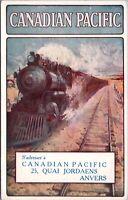 Canadian Pacific 25 Quai Jordaens Anvers Train Rail Unused Vintage Postcard E20
